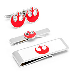 Star Wars® Rebel Alliance Symbol Cuff Links, Money Clip & Tie Bar Gift Set
