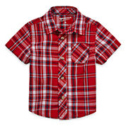 Arizona Boys Short Sleeve Button-Front Shirt