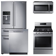 Samsung 4-pc. Gas Kitchen Package- Stainless Steel