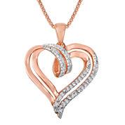 1/10 CT. T.W. Diamond Heart Pendant Necklace