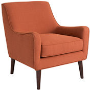 Larry Curved Sloped-Arm Chair