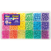 Giant 2,300-pc. Bead Box - Brights
