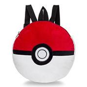Fab Pokemon Pokeball Plush Backpack- Boys One Size