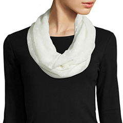 Mixit Solid Swiss Dot Loop Scarf