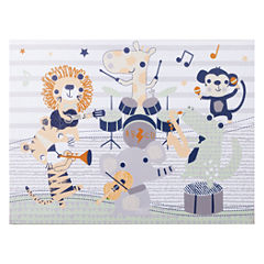 Trend Lab Safari Rock Band Canvas Wall Art