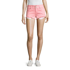 Wall Flower Fray Hem Shorts-Juniors