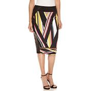 Bisou Bisou Zip Side Pencil Skirt
