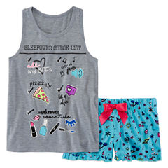 Total Girl 2-pc. Shorts Pajama Set Girls