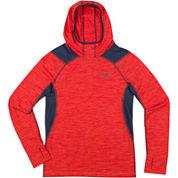 New Balance® Boys Long Sleeve Hooded Performance T-Shirt-Preschool