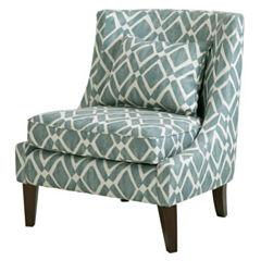 Madison Park Kyerin Swoop Fabric Club Chair