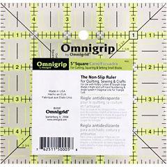 """Omnigrip Non-Slip Quilter's Ruler-5x5"""""""