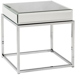 Emma Mirrored End Table