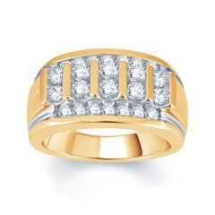 Mens 1½ CT. T.W. Diamond 10K Yellow Gold Ring