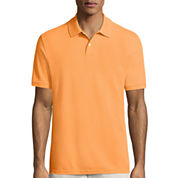 St. John`s Bay Short Sleeve Solid Performance Pique Polo Shirt