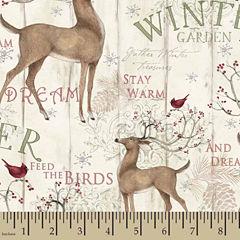 Winter Garden Panel Cotton Fabric