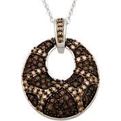 1/2 CT. T.W. Champagne Diamond Fashion Pendant Necklace