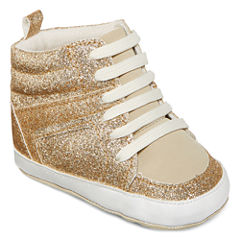 Okie Dokie® Glitter High-Top Shoes - Baby Girls 3m-12m