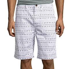 Arizona Printed Flat-Front Shorts
