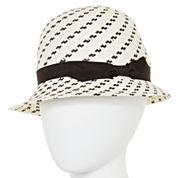 Scala™ Black and White Cloche Hat