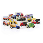 Guidecraft 12-pc. Wooden Truck Collection
