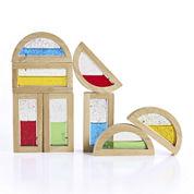 Guidecraft 8-pc. Rainbow Shimmering Water Building Blocks Set