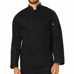 Dickies Unisex Cloth Covered Button Chef Coat