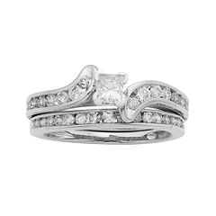 1 CT. T.W. Certified Diamond 14K White-Gold Bridal Set