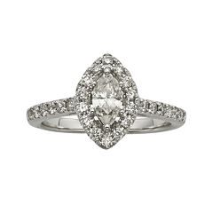 1CT. T.W. Certified Diamond 14K White-Gold Engagement Ring