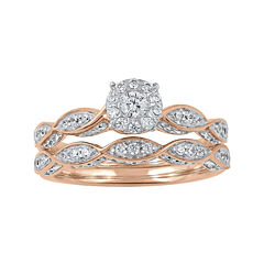 Cherished Hearts™ 3/4 CT. T. W. Diamond14K Rose Gold Ring Set
