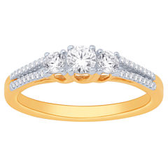 Love Lives Forever Womens 1 CT. T.W. White Diamond 14K Gold Bridal Set