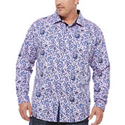 Steve Harvey Button-Front Shirt-Big and Tall