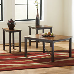 Signature Design by Ashley® Fletcher 3pc Occasional Table Set Coffee Table Set
