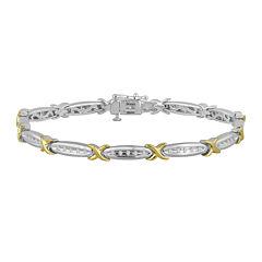 1/10 CT. T.W. Diamond 14K Yellow Gold Over Sterling Silver Bracelet