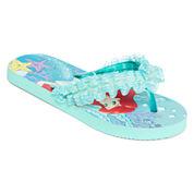 Disney Collection Ariel Flip Flops - Girls