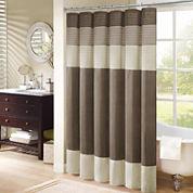 Madison Park Amherst Pleated Shower Curtain