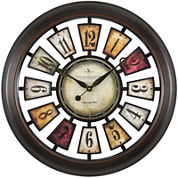 FirsTime® Numeral Plaques Wall Clock