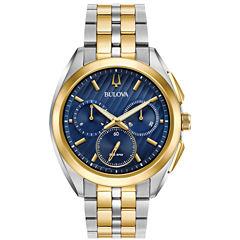 Bulova Curv Mens Two Tone Bracelet Watch-98a159
