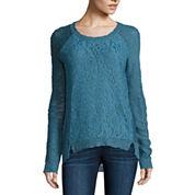 Freshman Long Sleeve Round Neck Pullover Sweater-Juniors