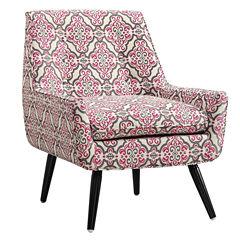 Eagle Trelis Tufted Fabric Club Chair