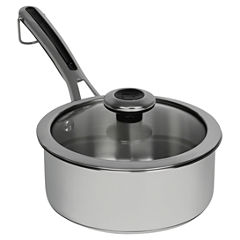 Revere Copper Confidence Core 2 Qt. Stainless Steel  Sauce Pot With Lid