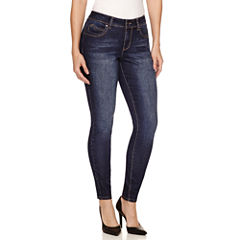 Bisou Bisou Double Stack Front Zip Skinny Jeans