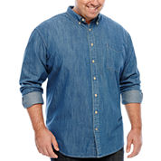 The Foundry Big & Tall Supply Co.™ Long-Sleeve Button-Front Woven Shirt