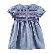 Oshkosh Short Sleeve Cap Sleeve Babydoll Dress - Baby