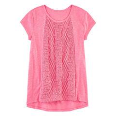 Arizona Short Sleeve Crochet Top - Girls 7-16 and Plus (copy)