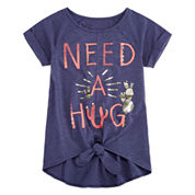 Arizona Tie Front Graphic Top - Girls 7-16 and Plus