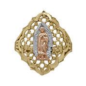 Tesoro™ 14K Tri-Tone Lady of Guadalupe Ring