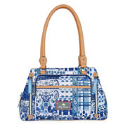 Lily Bloom Maggie Double Handle Satchel Bag