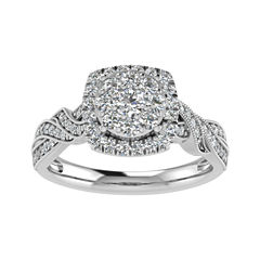 Cherished Hearts Womens 3/4 CT. T.W. Round White Diamond 14K Gold Engagement Ring
