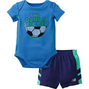 New Balance Boys 2-pc. Bodysuit Set-Baby