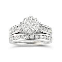 tw certified diamond bridal set - Jcpenney Wedding Ring Sets